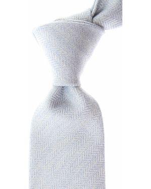 Niebieski krawat bawełniany Borrelli