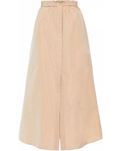 Beżowa spódnica midi z paskiem bawełniana Givenchy
