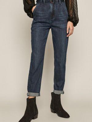 Синие джинсы с высокой посадкой с карманами Medicine
