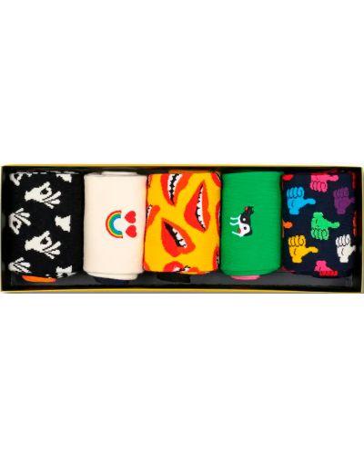 Бесшовные белые носки Happy Socks