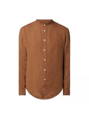 Brązowa koszula z długimi rękawami Drykorn