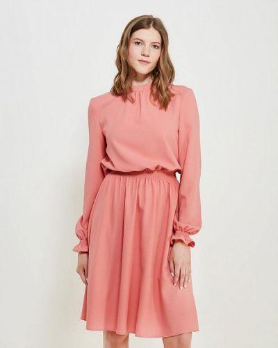 Розовое платье с длинными рукавами Remix