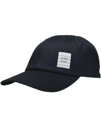 Niebieska czapka z daszkiem Thom Browne