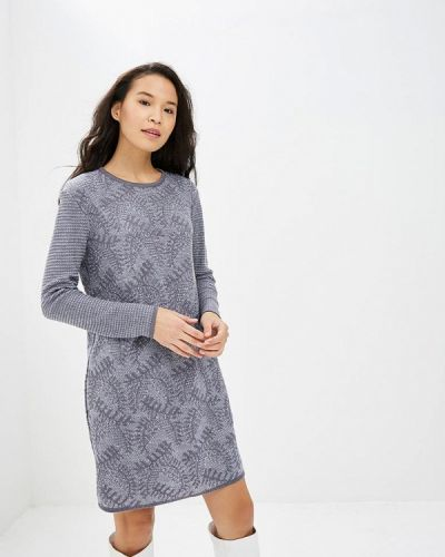 Платье серое вязаное Milana Style
