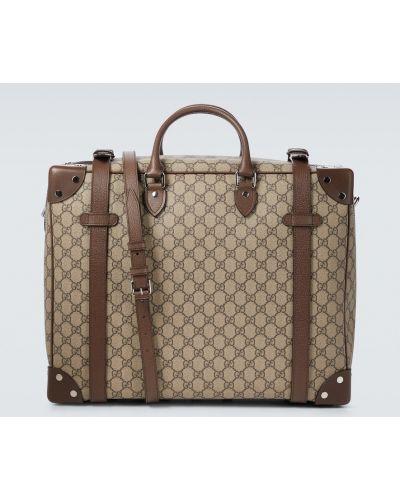 Beżowa walizka vintage Gucci