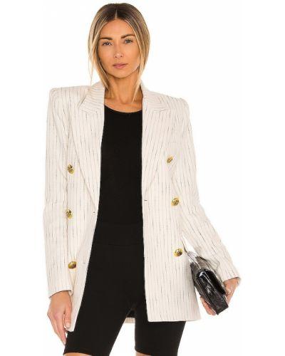 Белый пиджак двубортный с нашивками Smythe