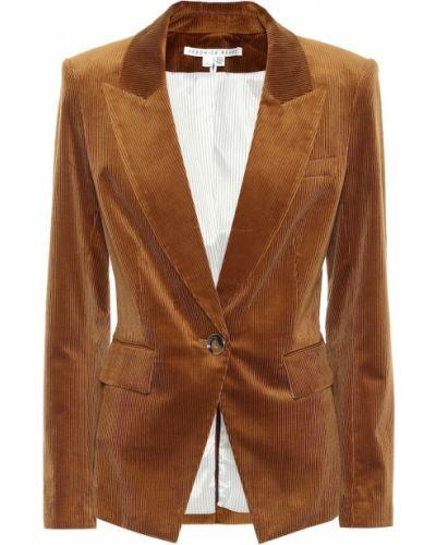 Коричневый пиджак вельветовый стрейч Veronica Beard