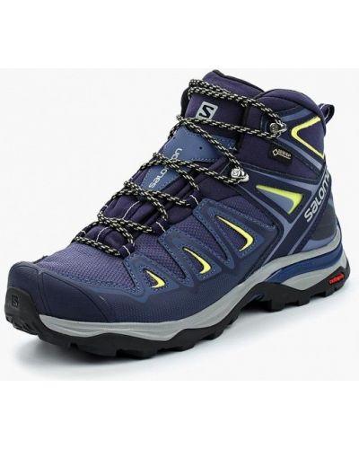 Кожаные ботинки трекинговые - синие Salomon