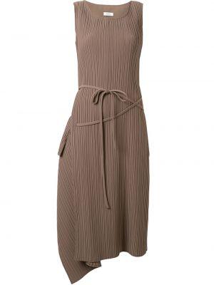 Платье с поясом трапеция с драпировкой Goen.j