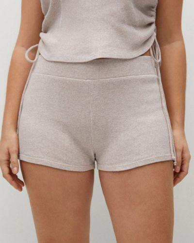 Домашние бежевые брюки Violeta By Mango