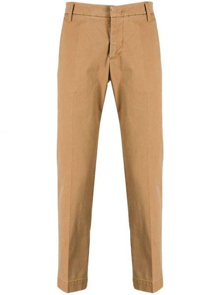 Коричневые классические брюки с поясом Entre Amis