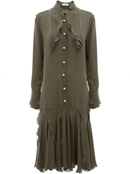 Шелковое плиссированное платье Jw Anderson
