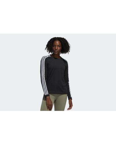 T-shirt dzianinowa - czarna Adidas