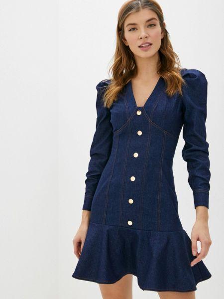 Джинсовое платье осеннее синее Bezko