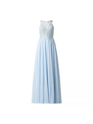 Sukienka wieczorowa rozkloszowana koronkowa tiulowa Luxuar