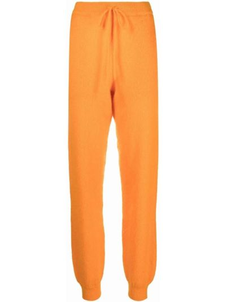Трикотажные спортивные брюки - оранжевые Rotate