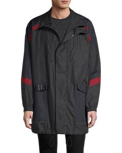 Czarna długa kurtka z długimi rękawami Hugo Hugo Boss
