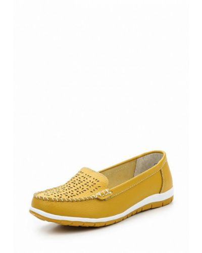 Желтые мокасины кожаные Baden