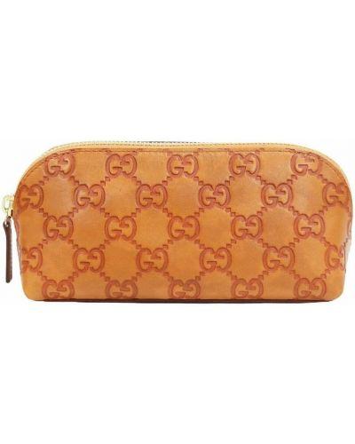 Kopertówka skórzana - pomarańczowa Gucci Vintage