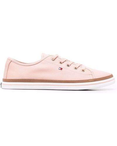 Розовые кружевные кроссовки Tommy Hilfiger