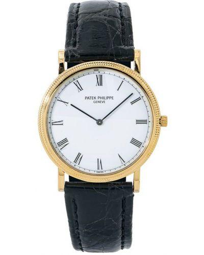 С ремешком кожаные часы круглые Patek Philippe