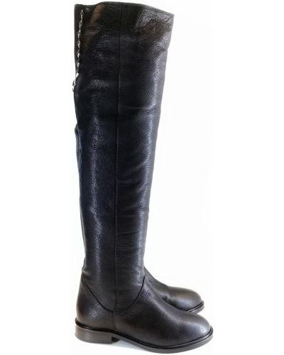 Кожаные ботфорты - черные Ilvi