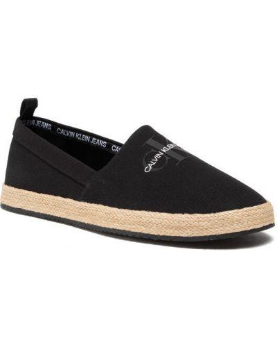Espadryle - czarne Calvin Klein Jeans