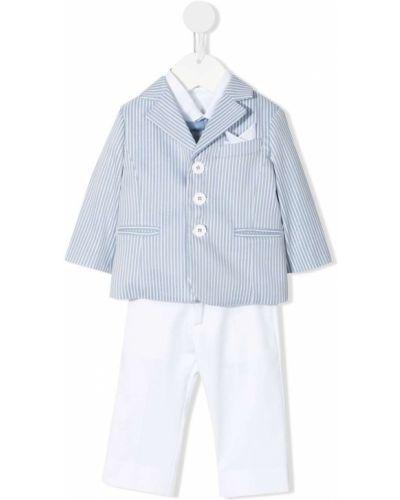 Klasyczny biały garnitur z długimi rękawami Marcelo Burlon County Of Milan Kids