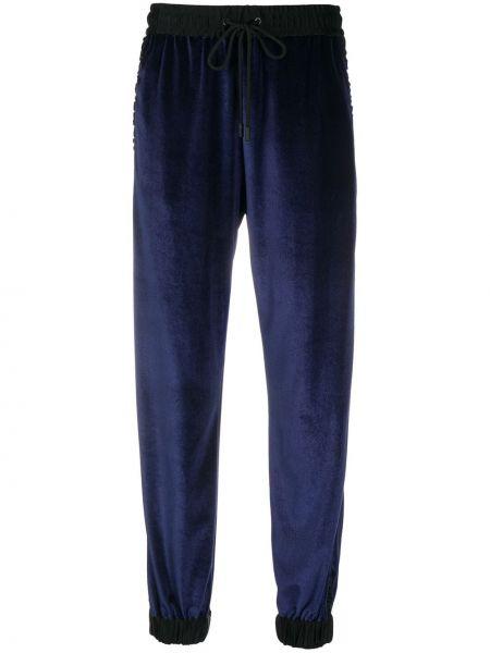 Брючные темно-синие брюки с полоской по бокам с нашивками из вискозы Iceberg