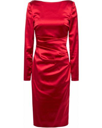 Платье с подкладкой с оборками на крючках Talbot Runhof
