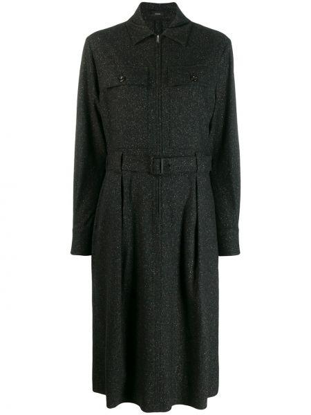 Платье макси на пуговицах с поясом Joseph