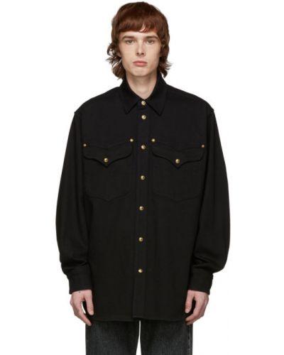Koszula z długim rękawem dżinsowa długa Versace
