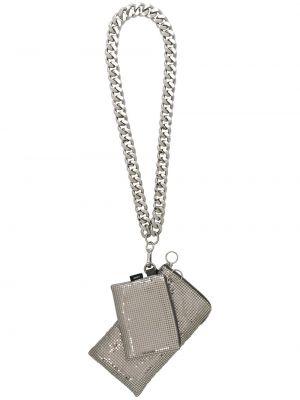 С ремешком серебряный кошелек Kara