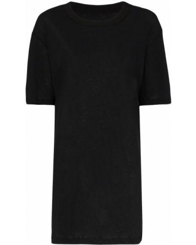 Футбольная черная футболка со спущенными плечами в рубчик Ten Pieces