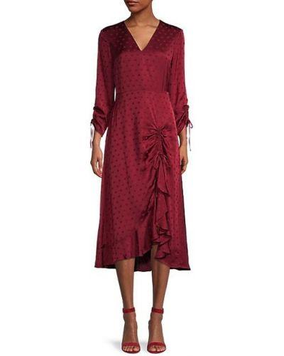 Платье макси в горошек с длинными рукавами с оборками Ted Baker London