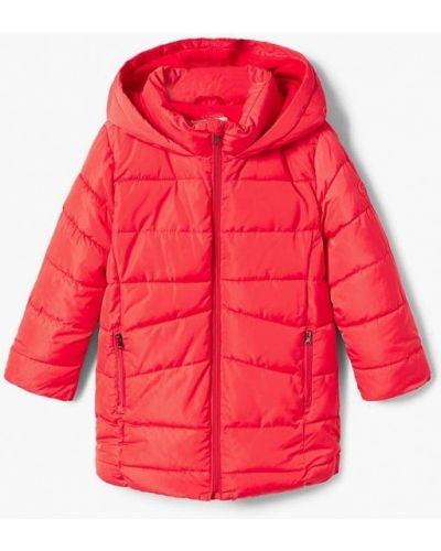 Красная куртка теплая Mango Kids
