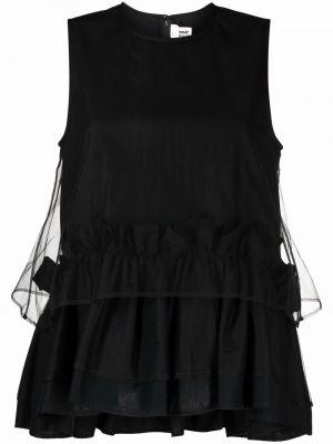 Черный хлопковый топ без рукавов Comme Des Garçons Noir Kei Ninomiya