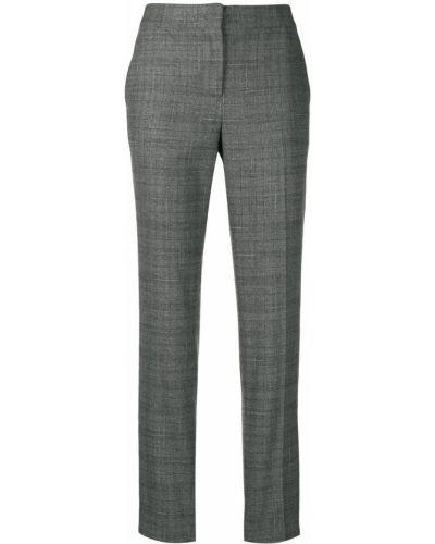 Деловые шерстяные серые классические брюки Fabiana Filippi