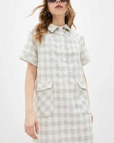 Бежевое платье-рубашка Adl