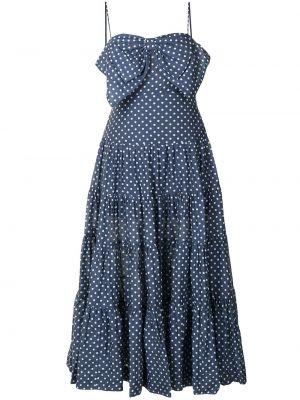 Платье миди в горошек - синее Alice Mccall