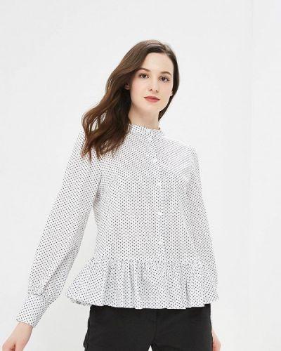 Блузка белая осенняя Solou