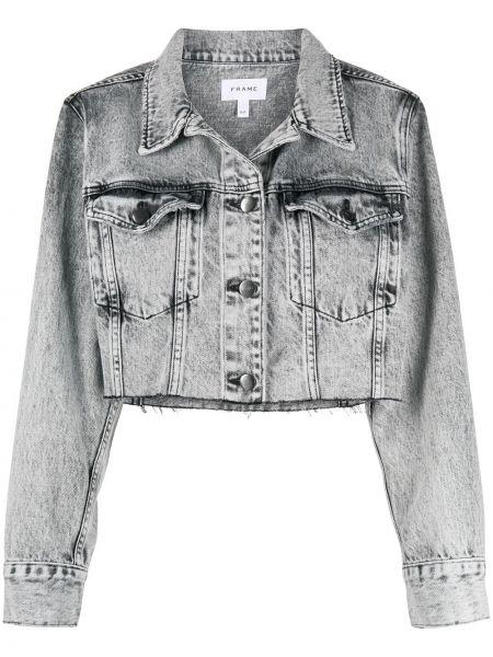 Прямая синяя джинсовая куртка с воротником с карманами Frame