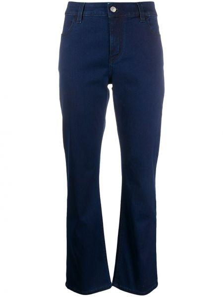 Расклешенные хлопковые синие с завышенной талией расклешенные джинсы Piazza Sempione