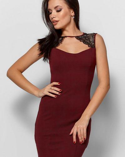 Вечернее платье осеннее красный Karree
