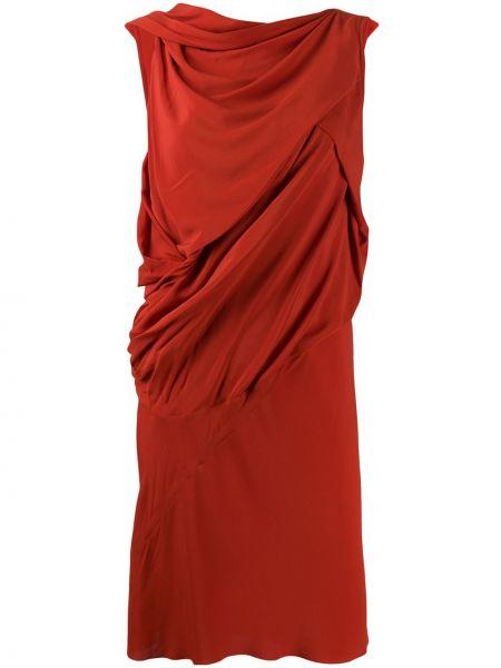 Платье с заниженной талией со складками Rick Owens