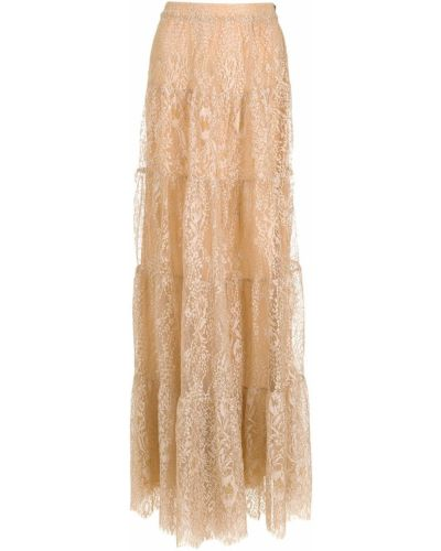 Ажурная хлопковая юбка на молнии НК