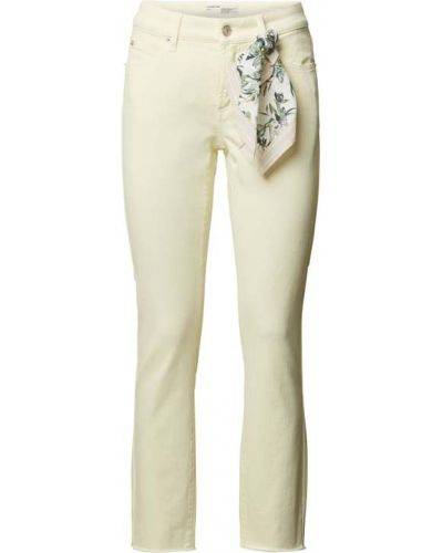 Żółte jeansy bawełniane Cambio