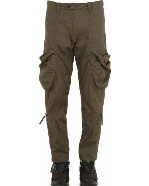 Zielone spodnie bawełniane z paskiem Nilmance