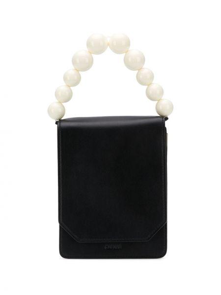 Czarna torebka crossbody skórzana Cafuné