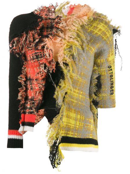 Черный свитер в рубчик Ottolinger